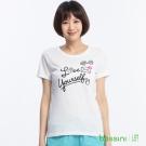 bossini女裝-印花短袖T恤83白