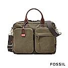 FOSSIL DEFENDER 雙口袋商務工作包-綠色