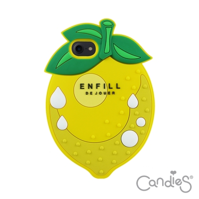 Candies 立體檸檬手機殼(黃) iPhone7 4.7吋(送玻璃保護貼)