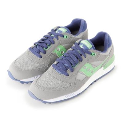 (女) 美國 SAUCONY 經典時尚休閒輕量慢跑球鞋-灰淺綠