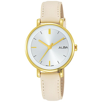 ALBA雅柏 Fashion lady 簡單女孩流行手錶(AH8488X1)-32mm