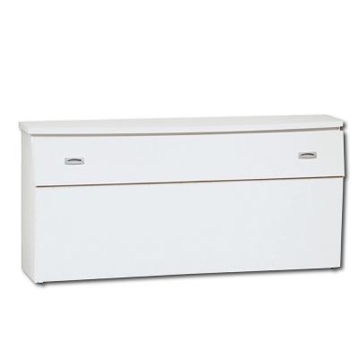 床頭箱 雙人5尺 簡約耐用白色 AS