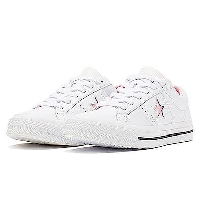 CONVERSE-ONE STAR男女休閒鞋160340C-白