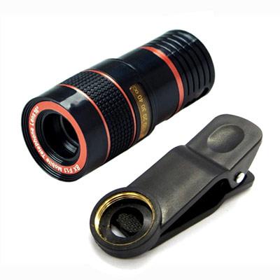 通用型廣角8倍高清單筒望遠鏡(可夾手機使用)