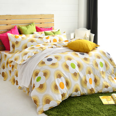 美夢元素 天鵝絨-兩用被床罩組-雙人(風鈴花海)
