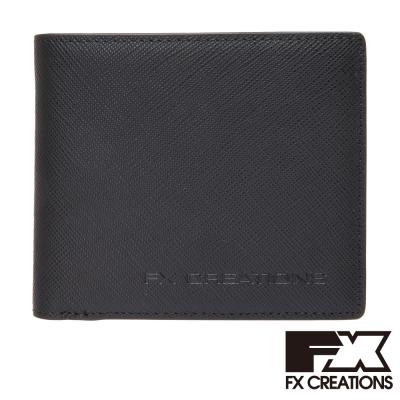 FX CREATIONS-Sancho系列-真皮短夾-黑SAOW68000-01
