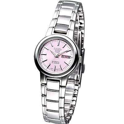 SEIKO 粉漾年華盾牌5號女機械錶(SYME41K1)-粉/25mm