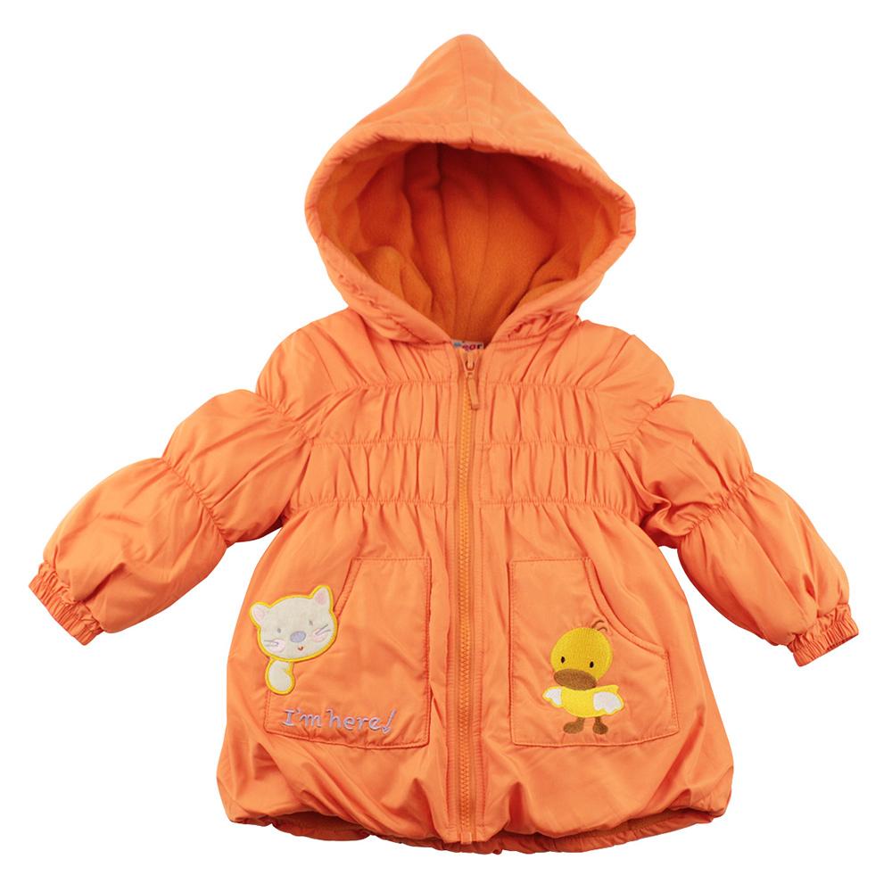 愛的世界 MYBEAR 森林精靈防風舖棉連帽外套/6-8歲-中國製-