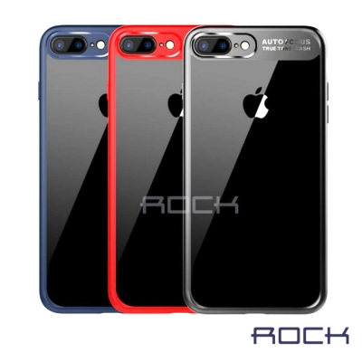 Rock 晶彩系列 iphone 7 4.7 雙料透明背板手機保護殼