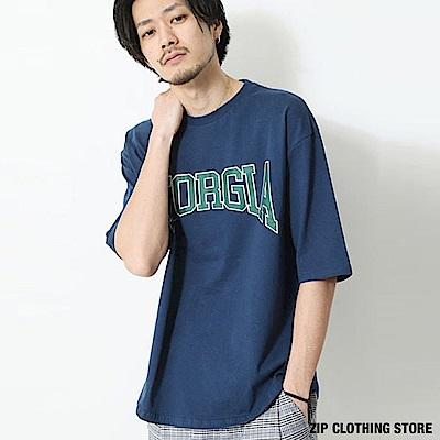 LOGO大學短T恤(16色) ZIP日本男裝