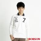 BOBSON 男款POLO長袖上衣(米白81)