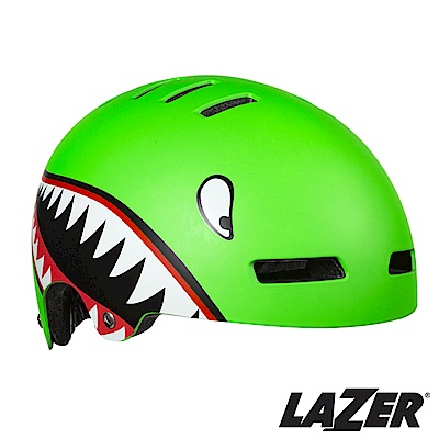 《LAZER》比利時 STREET JR 自行車兒童安全帽(52-56cm) 小恐龍