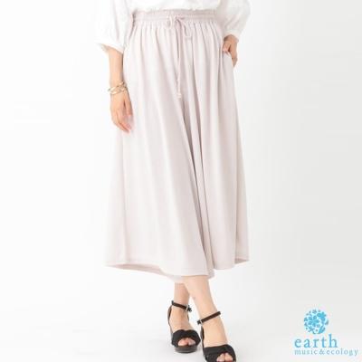 earth-music-氣質鬆緊腰綁帶寬褲