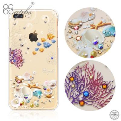 apbs iPhone8/7 Plus 5.5吋施華洛世奇彩鑽手機殼-海洋之心