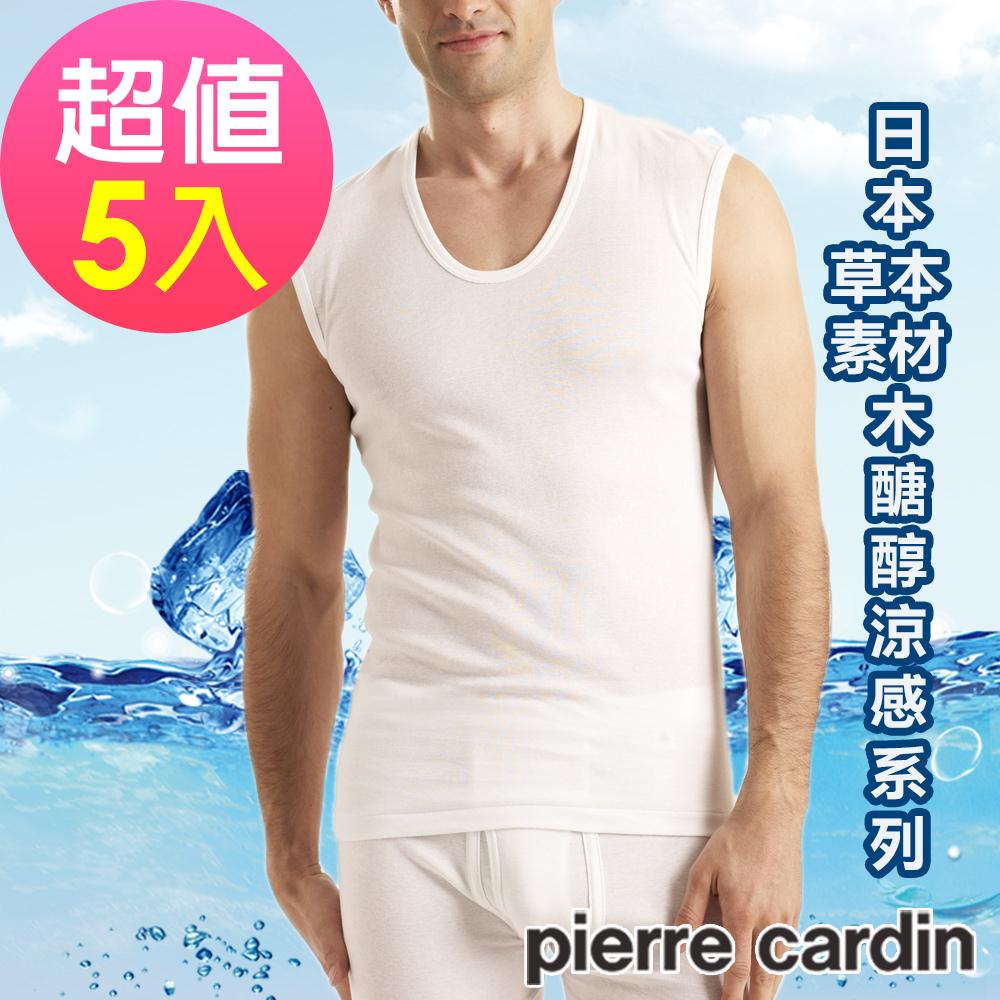 Pierre Cardin皮爾卡登 木醣醇涼感無袖衫(超值5件組)