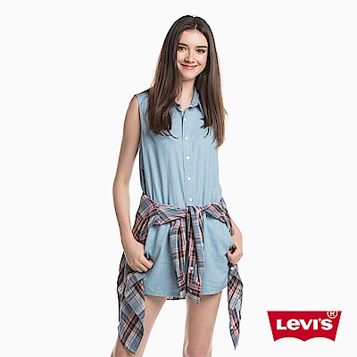 牛仔短褲 女款 連身短褲 - Levis