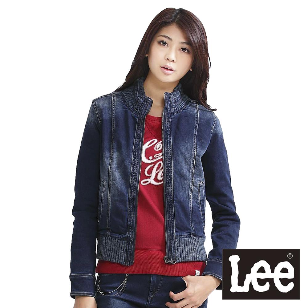 Lee 帥氣有型,立領牛仔外套-女款(牛仔藍)