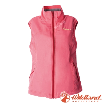Wildland荒野 W2709-78粉紅色 女防潑水防風保暖背心