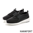 HANNFORT ICE超級凍感運動休閒鞋-男-宇宙黑