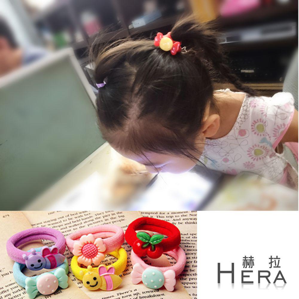 Hera 赫拉 糖果色大彈力卡通兒童無接縫髮圈/髮束(6入組)-不挑色