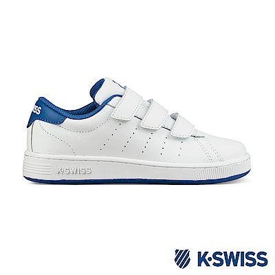K-swiss Clean Court III Strap休閒運動鞋-童-白/藍