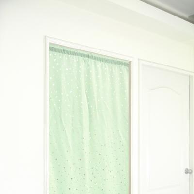 布安於室-銀色星空遮光長門簾-綠色-寬100x高130cm