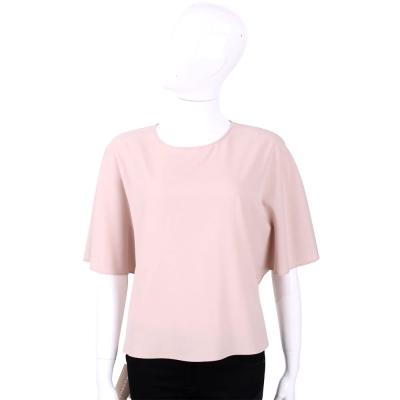 PHILOSOPHY 粉色素面蝴蝶袖上衣