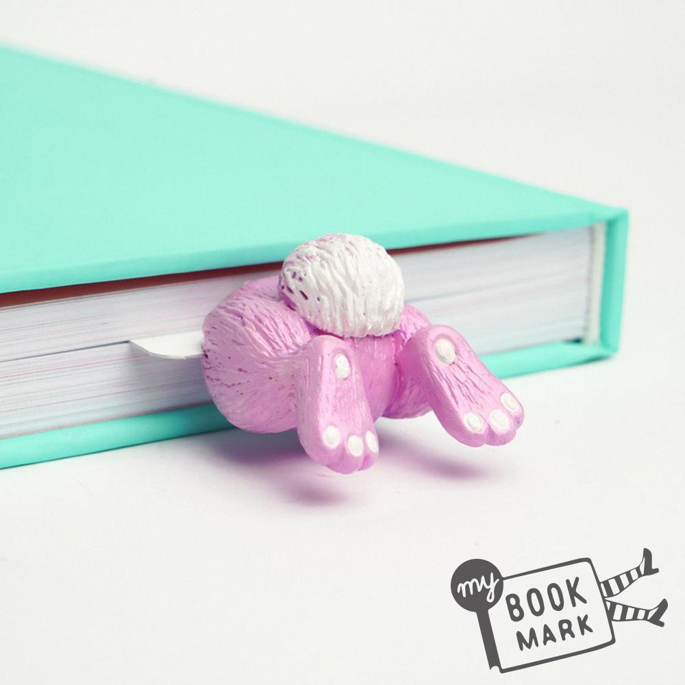 禮物myBookmark手工書籤-粉紅邦妮兔屁屁