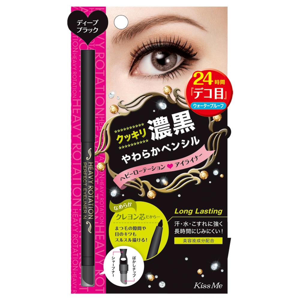 KISS ME 奇士美-Heavy Rotation濃黑旋轉式眼線筆N#01黑色