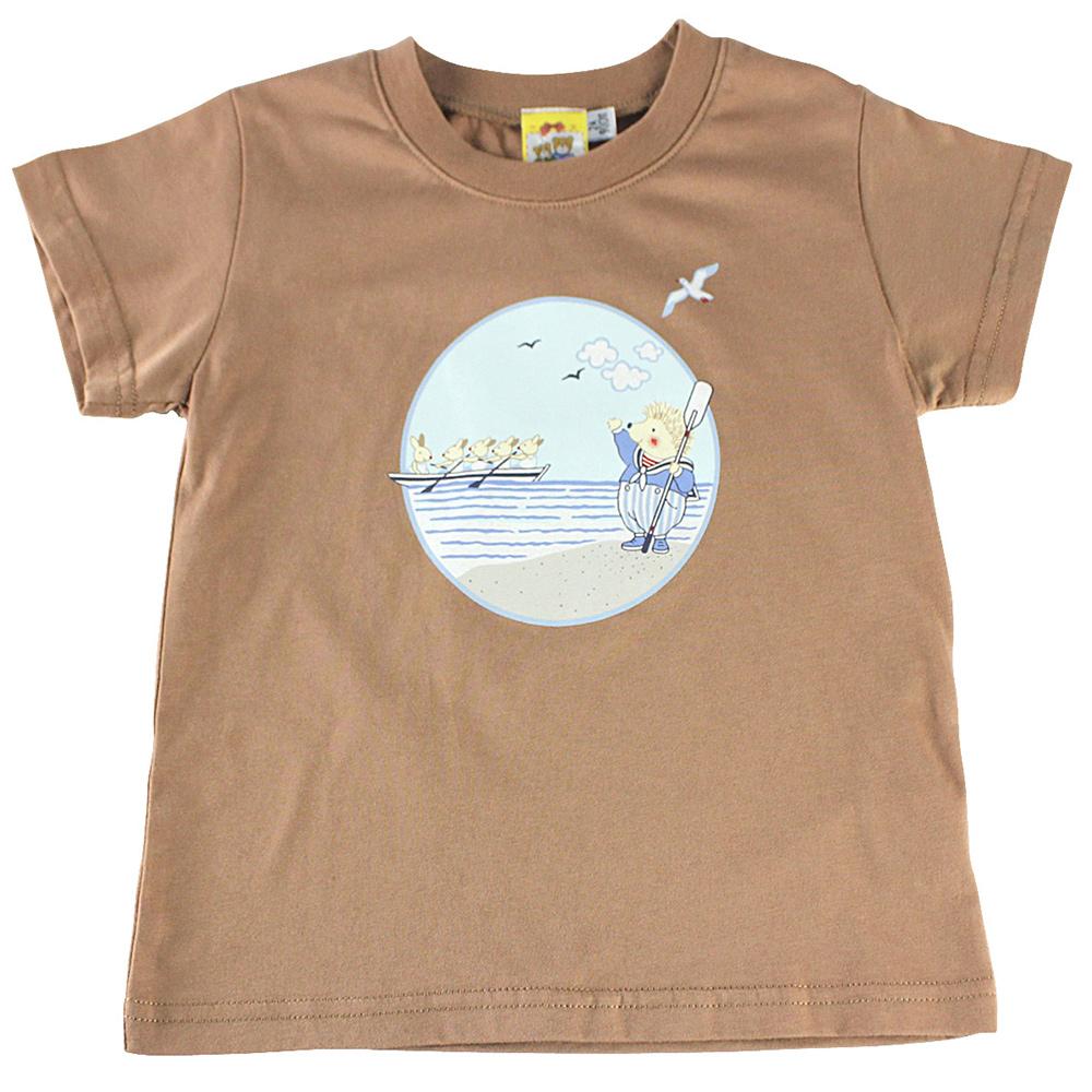 愛的世界 MYBABY 賽艇純棉圓領短袖T恤/2~4歲