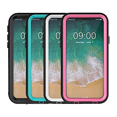 水漾-Sharks box iPhone X IP68級 透明背蓋防水手機殼