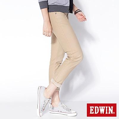 EDWIN AB褲 迦績褲JERSEYS圓織牛仔褲-女-淺卡其