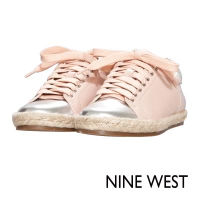 NINE-WEST-活力草編休閒平底鞋-甜美粉