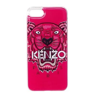 KENZO 3D立體彩繪虎頭 I Phone 7(4.7吋) 軟膠手機殼 莓紅