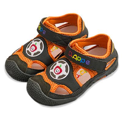 【Dr. Apple 機能童鞋】玩色拼接透氣舒適童鞋  軍綠