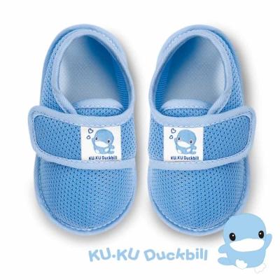 任選-KU.KU酷咕鴨 酷咕鴨超透氣學步鞋-藍(M/L/XL/LL)