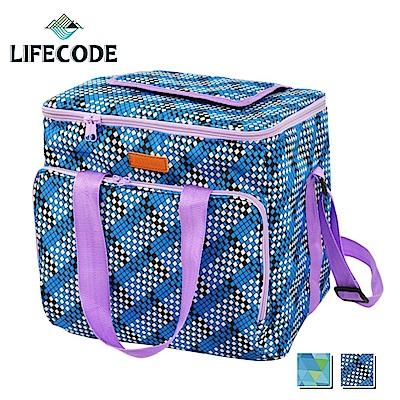 LIFECODE 法頌肩背野餐保冰袋/保冷袋/保溫袋-2色可選