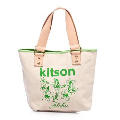 kitson-夏威夷風真皮背帶托特包-M-GREEN