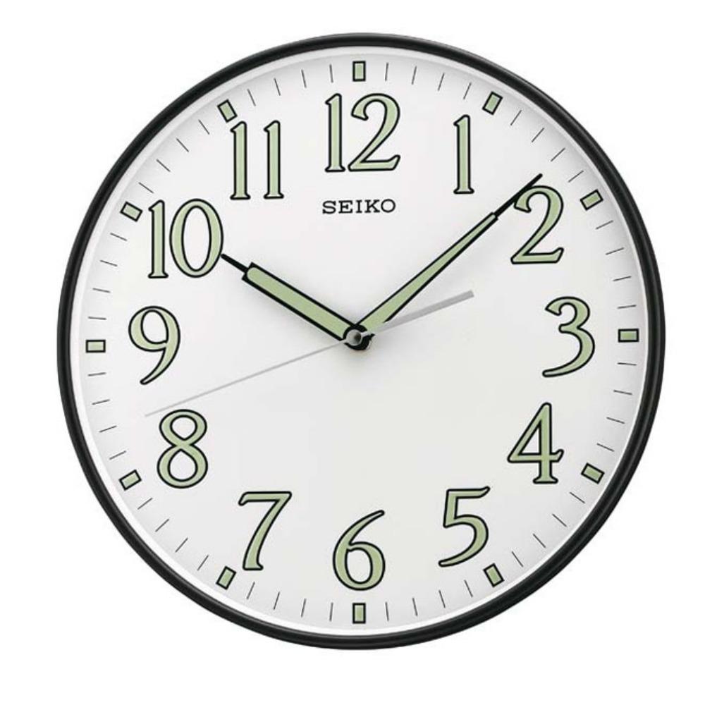 SEIKO 精工 夜光 恒動式秒針靜音掛鐘-白/29.5cm