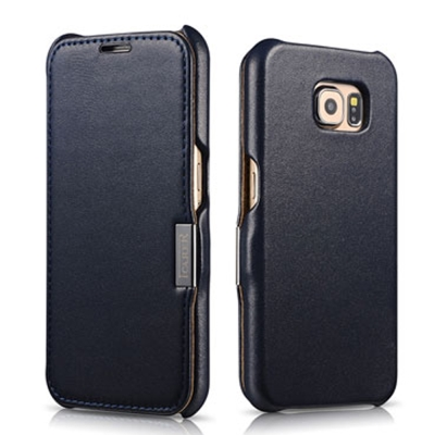 ICARER 奢華系列SAMSUNG Galaxy S6 磁扣側掀 手工真皮皮套