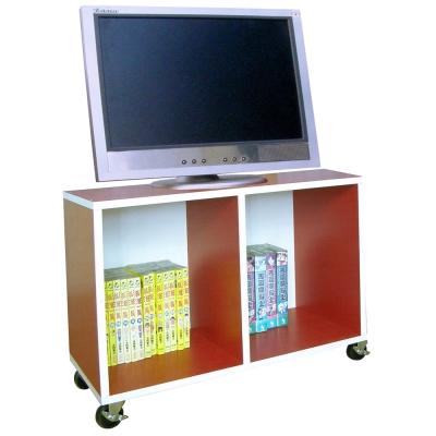 【Dr. DIY】耐重型-電視櫃(附四個工業輪)紅白色