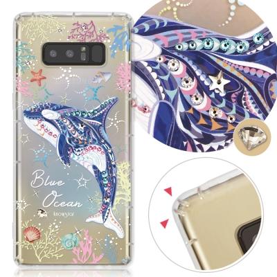 KnowStar 三星 Galaxy Note8 奧地利彩鑽防摔手機殼-藍色海洋