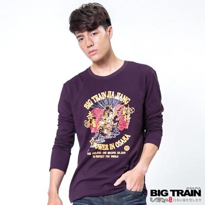 BIG TRAIN 唐獅牡丹家將TEE-男-深紫