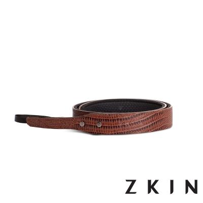 ZKIN Siren Mini 微單專用皮革肩帶(蛇紋棕)