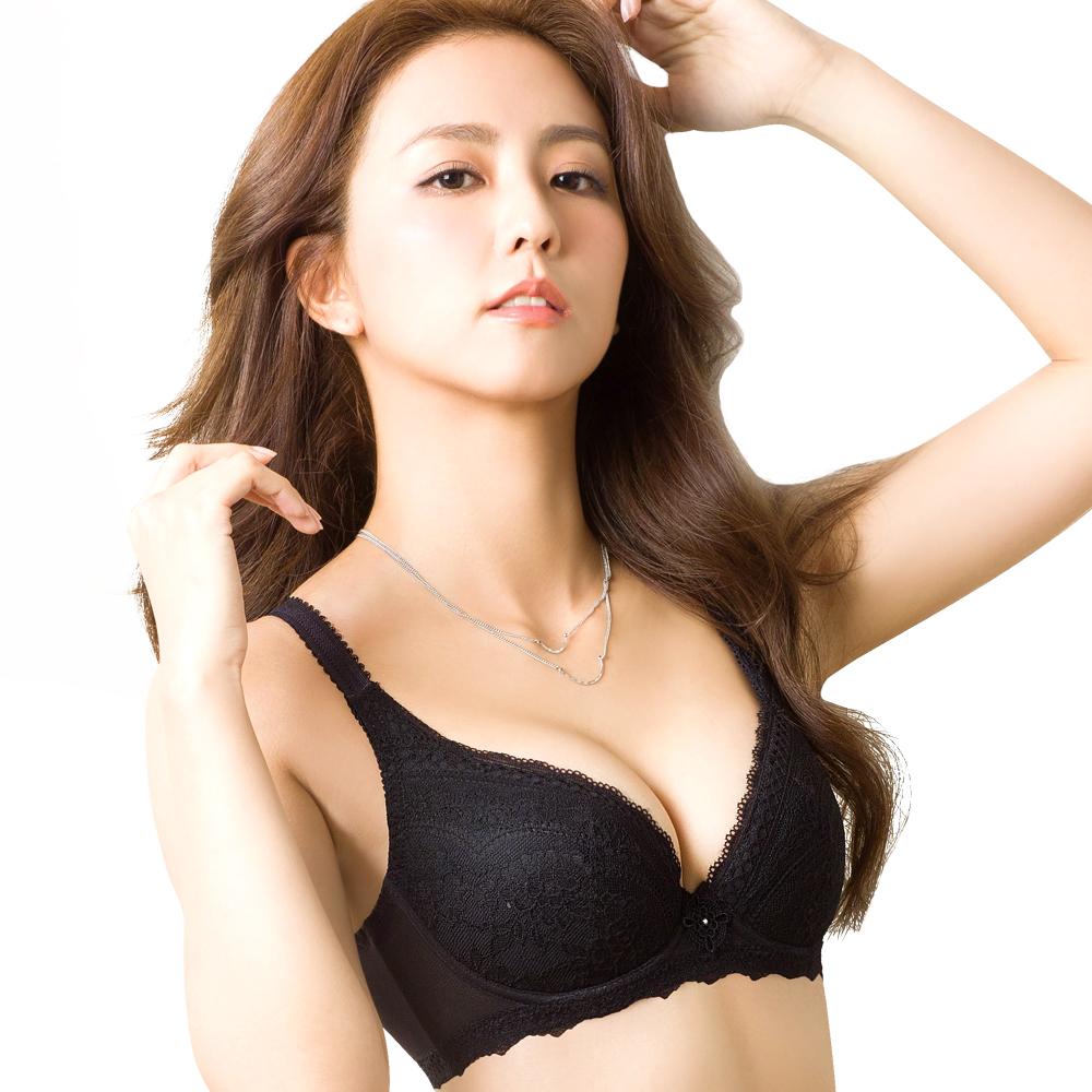思薇爾 浮華美學系列B-E罩蕾絲包覆大罩內衣(黑色)