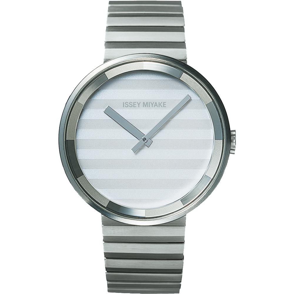 ISSEY MIYAKE 三宅一生PLEASE時裝系列腕錶SILAAA05Y-銀/40mm