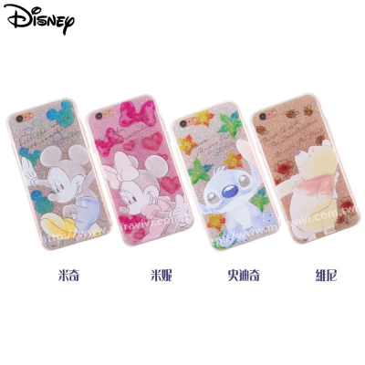 Disney迪士尼iPhone 6/6S Plus閃粉雙料保護殼-淡彩系列