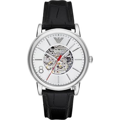 Emporio Armani Meccanico 雅爵鏤空機械腕錶(AR1997)