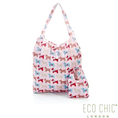 英國ECO CHIC折疊購物袋-雪納紅