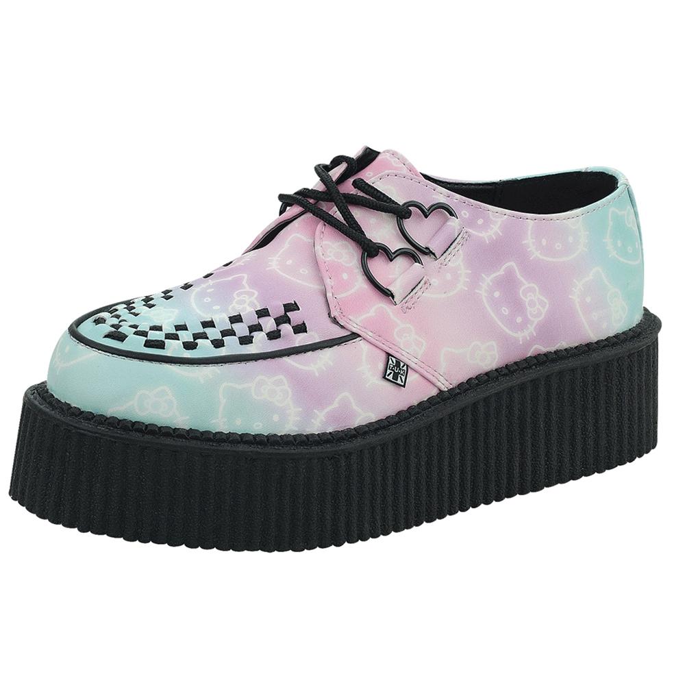 TUK+HK凱蒂貓漸層結經典龐克鞋